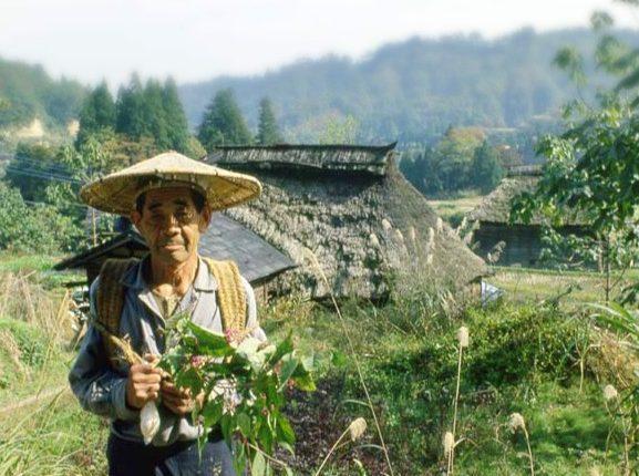 名ヶ山とかやぶき屋根