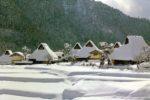 美山三景の雪景色