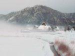 美山町の地吹雪